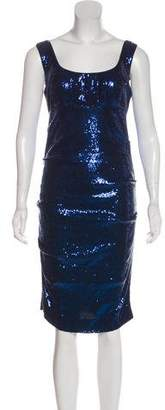 Nicole Miller Sequin Midi Dress w/ Tags