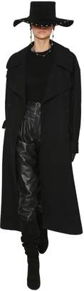 Alberta Ferretti Oversized Wool Blend Felt Coat