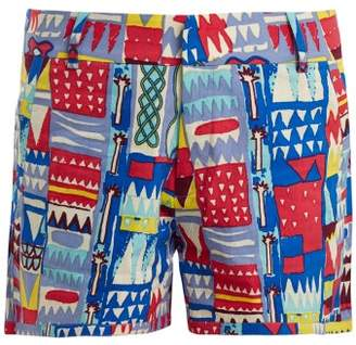 Le Sirenuse, Positano - Afrika Cotton Shorts - Womens - Purple Multi