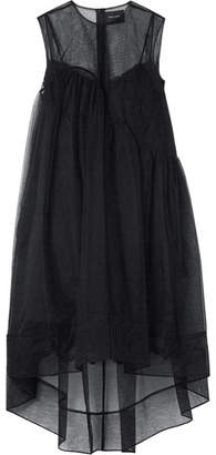 Simone Rocha Asymmetric Tulle Dress - Black