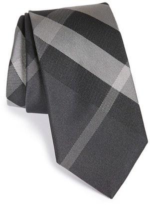 Men's Burberry Manston Check Silk Tie $190 thestylecure.com