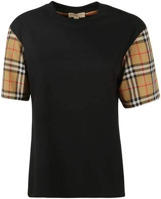 Burberry Check Detail T-shirt
