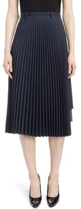 Balenciaga Layered Plisse Pleat Skirt