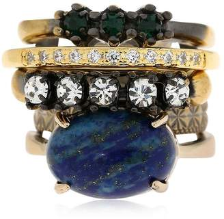 Iosselliani Set Of 5 Rings W/ Lapis Lazuli