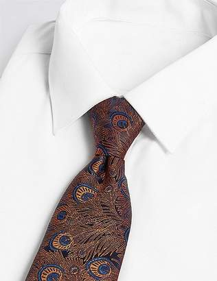 Marks and Spencer Pure Silk Made in Italy Peacock Feather Tie