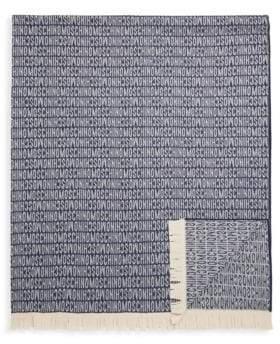 Moschino Logo Design Wool Blanket Scarf