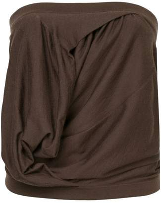 Rick Owens gathered bustier top