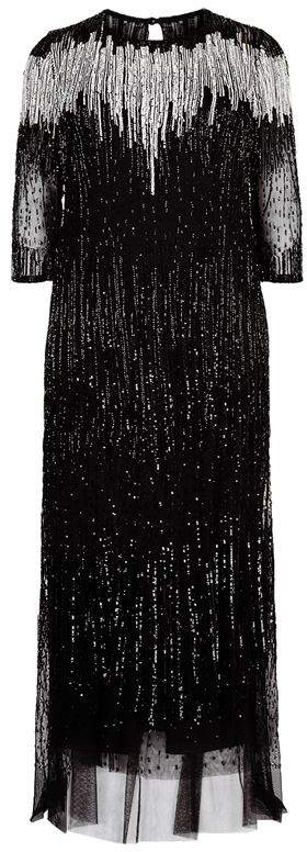 Sheer Embellished Gown