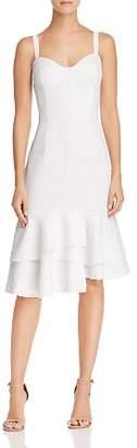 Milly Kendal Flounced-Hem Dress