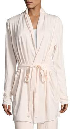 Skin Short Pima Cotton Wrap Robe