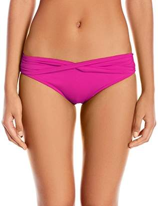 Seafolly Women's Twist Band Hipster Full Coverage Bikini Bottom Swimsuit