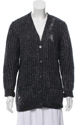 Saint Laurent Long Sleeve Knit Cardigan
