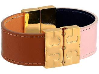 Tory Burch Color Block Reversible Leather Bracelet