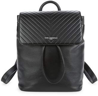 Karl Lagerfeld Women's Quilted Leather Backpack