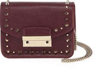 Furla Julia Mini Studded Saffiano Leather Crossbody Bag