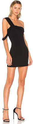 Baja East One Shoulder Mini Dress