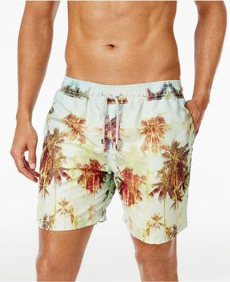 "Velero Men's Palm Tree Swim Trunks, 5"" $80 thestylecure.com"