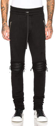Amiri MX1 Moto Sweatpants in Black | FWRD
