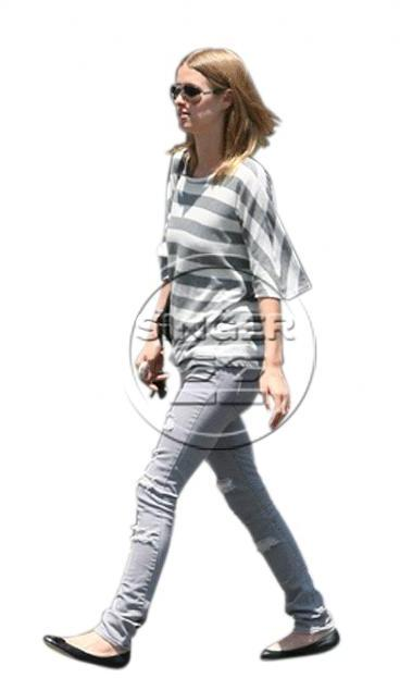 Jet by John Eshaya Thrasher Jeans in Grey - as seen on Nicky Hilton