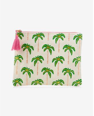 Express slant palm tree pouch $12 thestylecure.com
