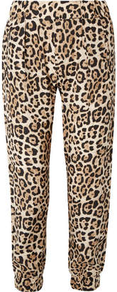 ATM Anthony Thomas Melillo Leopard-print Silk-charmeuse Track Pants