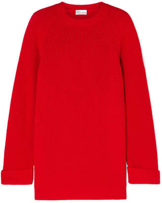 RED Valentino Oversized Ribbed Wool Sweater
