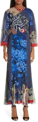 Etro Patchwork Silk Maxi Dress