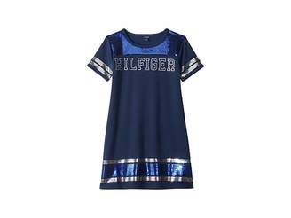 Tommy Hilfiger Stripe Trim Dress (Big Kids)