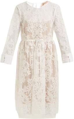 No.21 NO. 21 Rebrode-lace dress