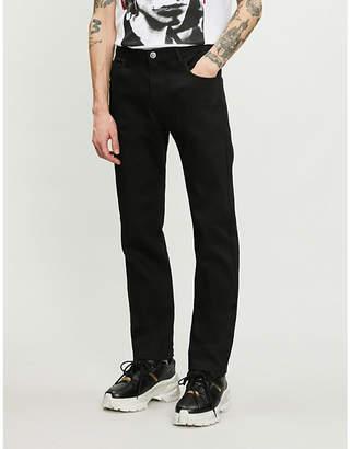Raf Simons Slogan-patch regular-fit straight jeans