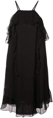 Rachel Zoe ruffle trim dress