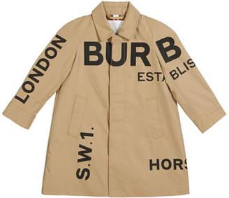 Burberry Antonio Logo Print Trench Coat, Size 3-14