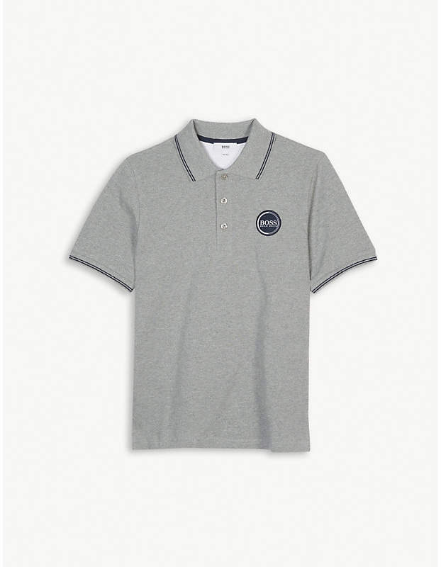 Logo cotton polo shirt 4-16 years