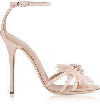 Giuseppe Zanotti Annemarie Pink Patent Leather High Heel Sandals W/flower