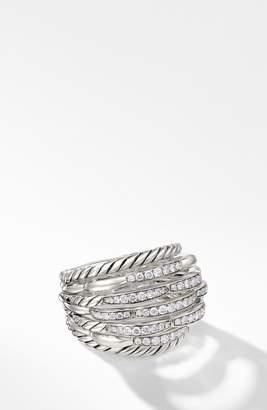 David Yurman Tides 20mm Dome Ring with Diamonds