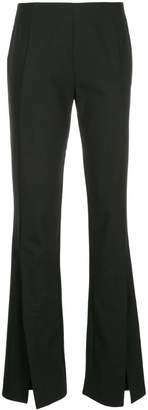 Taylor slit front flared trousers
