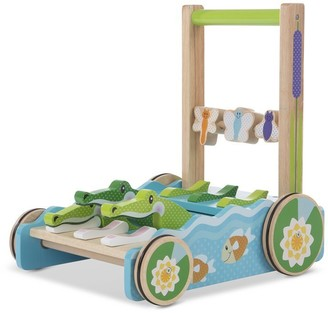 Melissa & Doug Baby Stand and Push Walker First Play Chomp and Clack Alligator