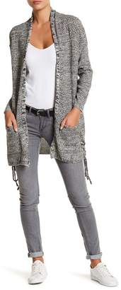 OnTwelfth Side Vent Lace-Up Cardigan