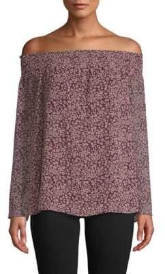 Rebecca Minkoff Avani Off-The-Shoulder Floral Top