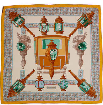 Hermes Feux De Route By Caty Latham Silk Scarf