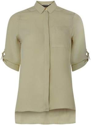 Dorothy Perkins Womens Khaki D-Ring Shirt