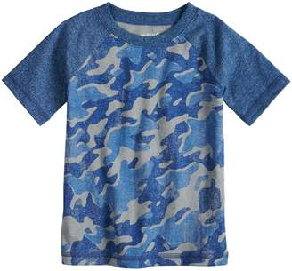 Toddler Boy Jumping Beans Camouflaged Raglan Tee