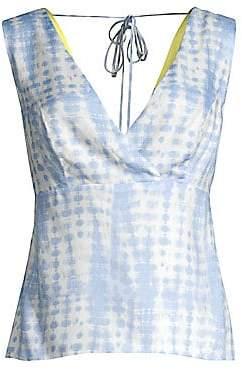 STAUD Women's Tie-Dye Cutout Tee