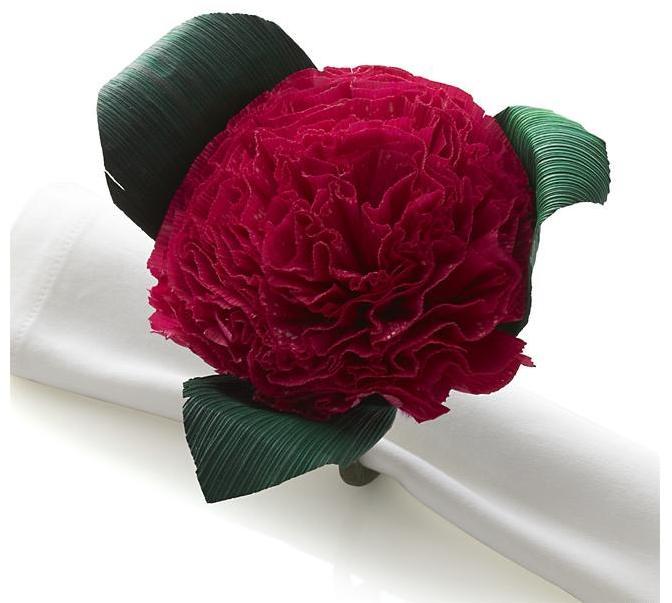 Crate & Barrel Flores Pink Napkin Ring