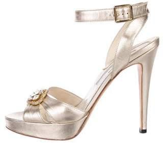 Brian Atwood Embellished Platform Sandals