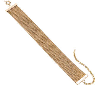 Fallon Stacked Gold-Plated Brass Choker Necklace