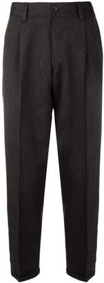 Pt01 creased tapered trousers