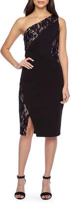 Melrose One Shoulder Sleeveless Lace Sheath Dress