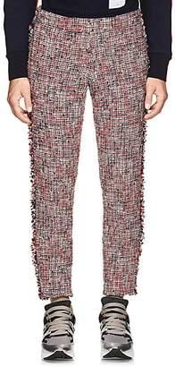 Thom Browne Men's Wool-Blend Tweed Low-Rise Trousers