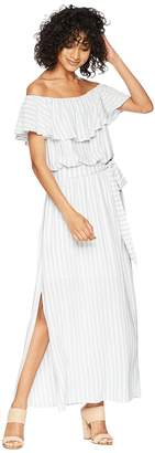 1 STATE 1.STATE Off Shoulder Ruffle Edge Maxi Dress Women's Dress